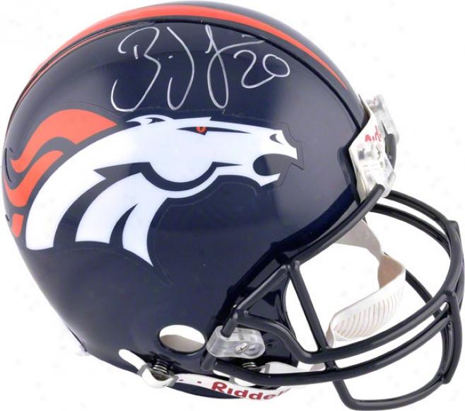 Brian Dawkins Autographed Pro-line Helmet  Details: Denver Broncos, Authentic Riddell Helmet