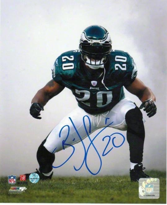 Brian Dawkins Philadelphia Eagles Autographed 16x20 Photo Smoke