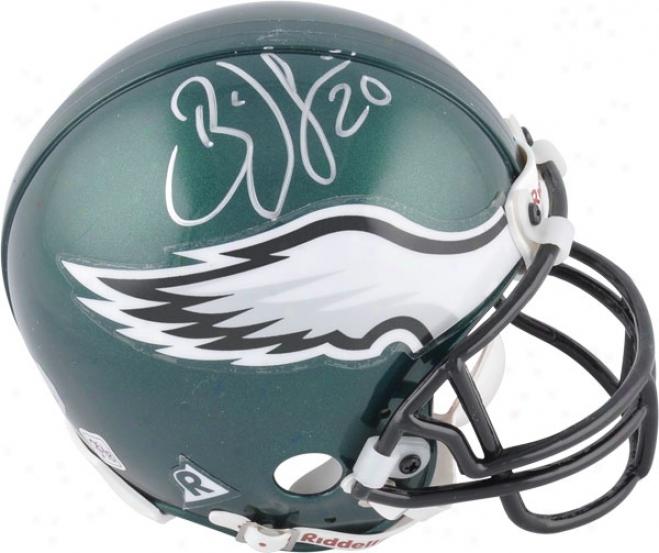 Brian Dawkins Philadelphiaa Eagles Autographed Mini Helmet