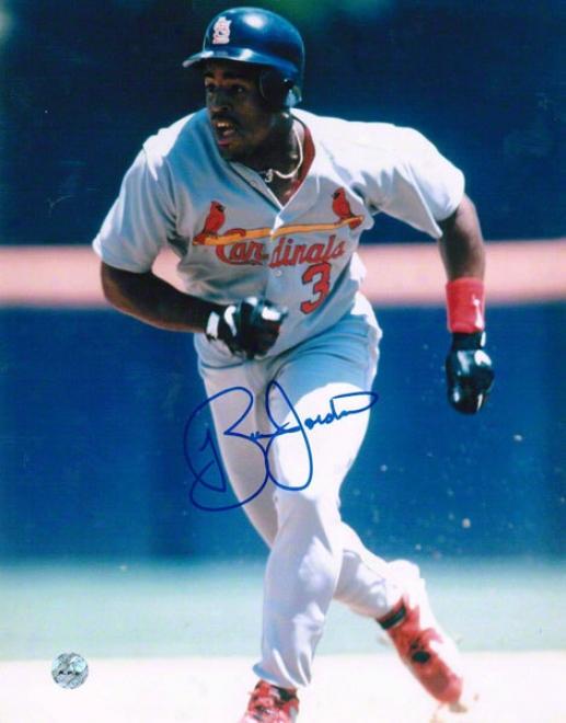 Brian Jordan St. Louis Cardinals Autographed 8x10 Photo Running The Bases