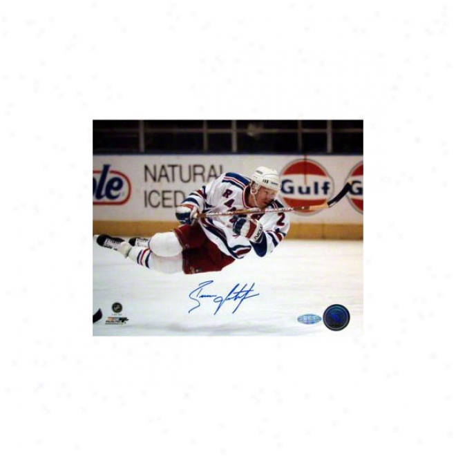 Brian Leetch New York Rangers 8x10 Autographed In Air Photograph