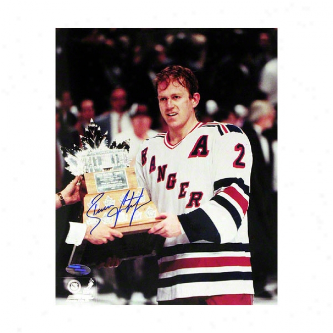 Brian Leetch New York Rangers 8x10 Autographed Photograph