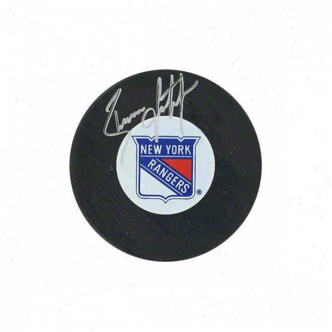 Brian Leetch New York Rangers Autographed Puck