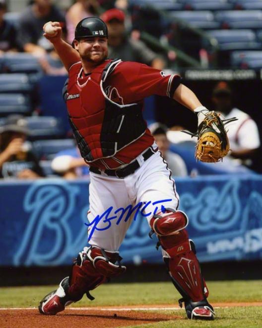 Brian Mccann Autographed 8x10 Photograph  Details: Atlanta Braves