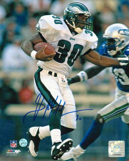 Brian Mitchell Philadelphia Eagles Autographed 8x10 Photo Vs Seahawkw