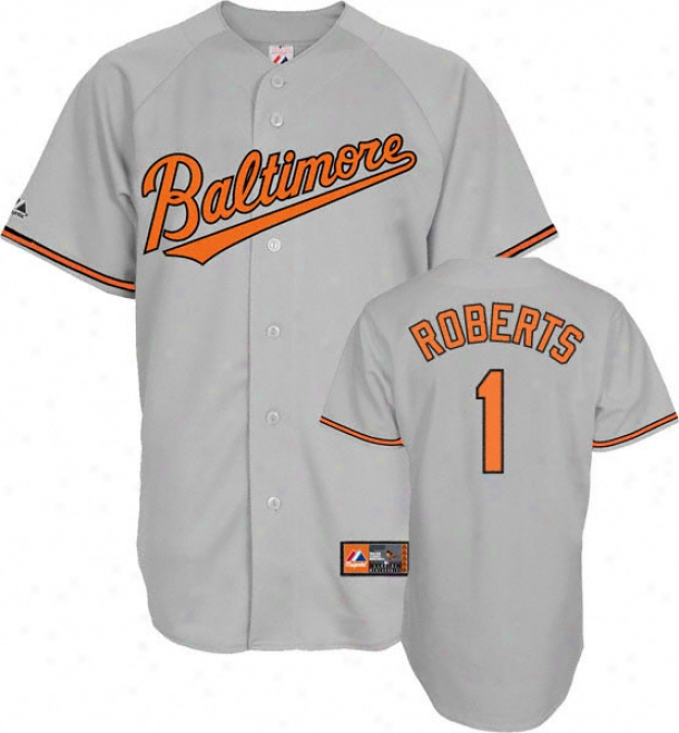 Brian Roberts Jersey: Adult Majestic Path Grey Autograph copy #1 Baltimore Orioles Jersey