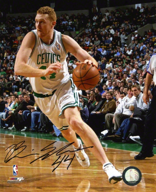 Brian Scalabrine Boston Celtics Autographe 8x10 Photo