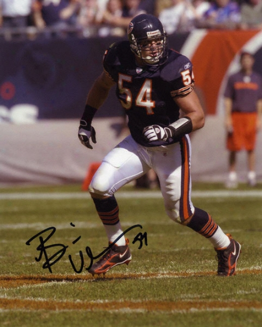 Brian Urlacher Chicafo Bears - Ball Hawk - Autographed 8x10 Photograph