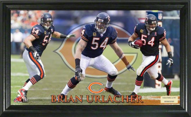 Brian Urlacher Chicago Bears Gridiron Ace 12x20 Frame