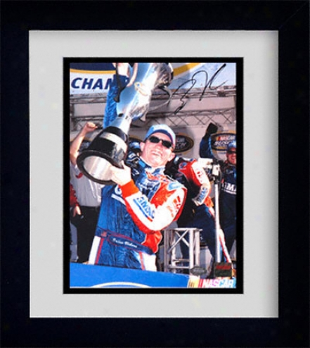 Brian Vickers 2003 Busch Series Champion Framed 8x10 Autographed Photograph
