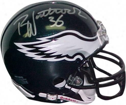 Brian Westbrook Philadelphia Eagles Autographed Mini Helmet
