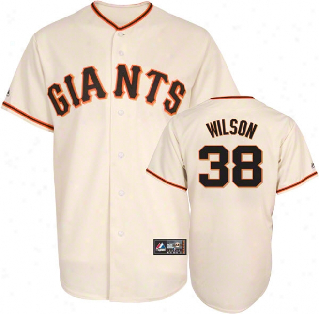Brian Wilson Jersey: Adult Home Ivory Replica #38 San Francisco Giants Jersey
