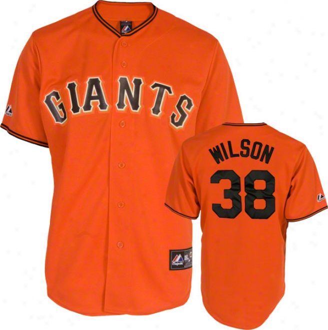 Brian Wilson Jersey: Adult Majestic Alternate Orange Replica #38 San Francisco Giants Jersey