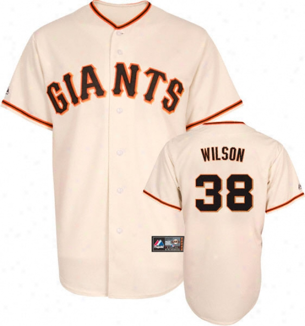 Brjan Wilson Jersey: Adult Majestic Home Ivory Replica #38 San Francisco Giants Jersey