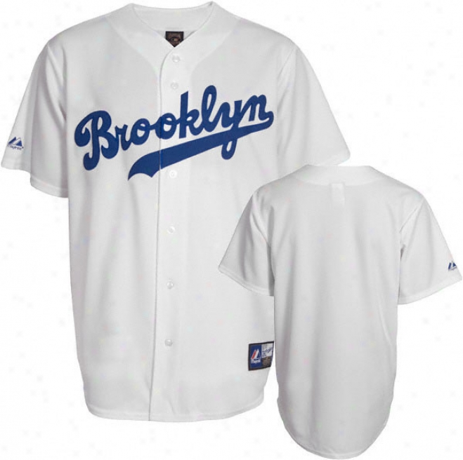 Brooklyn Dodgers Cooperstown Whiye Replica Jersey
