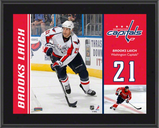 Brooks Laich Plaque  Details: Washington Capitals, Sublimated, 10x13, Nhl Plaque