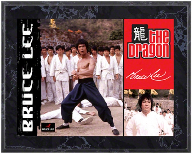 Bruce Lee 8x10 Marble Color Player Plaque-the Dragon