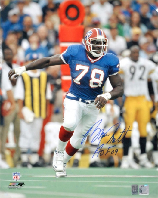Bruce Smith Autographed Photograph  Details: Buffalo Bills,16x20