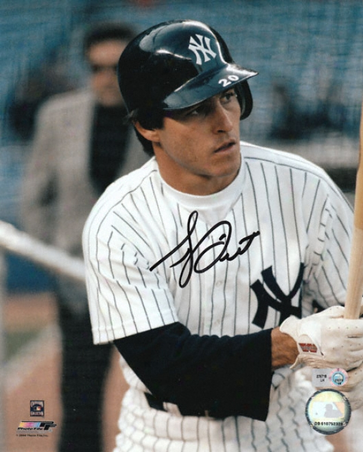 Bucky Dent New York Yankees - Batting Close-up - Autographed 8x10 Photograph