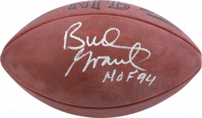 Bud Grant Autographed Football