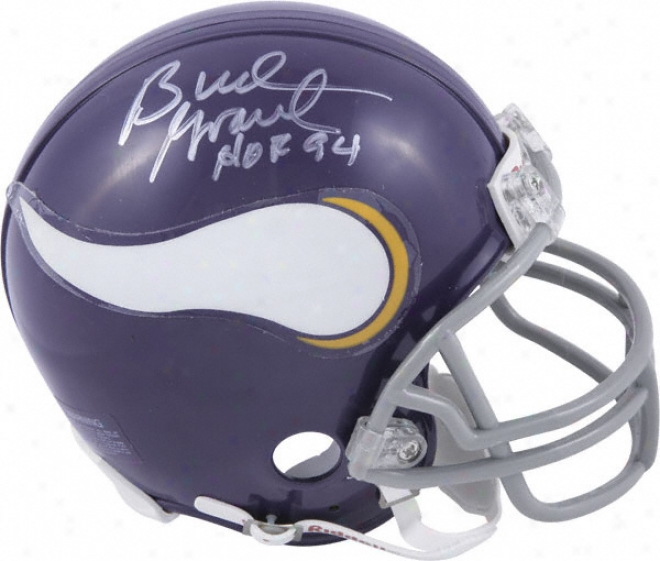 Germ Grant Minnesota Vikings Autographed Mini Helm By the side of Hof'4 Inscription