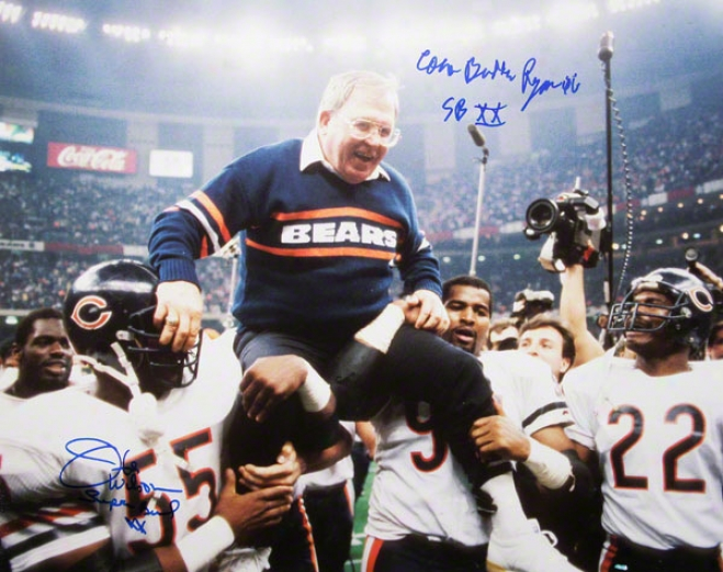 Buddy Ryan And Otis Wilson Chicago Bears - Sbxx - Dual Autographed 16x20 Photograph