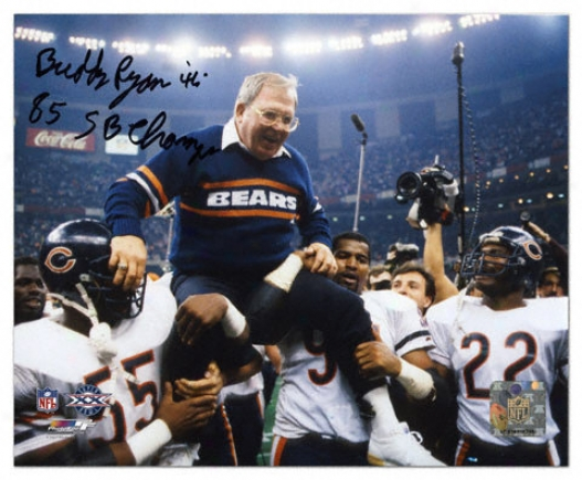 Buddy Ryan Autographed Photograph  Particulars: Chicago Bears, 85 Sb Champs Inscription, '46' Inscription, 8x10