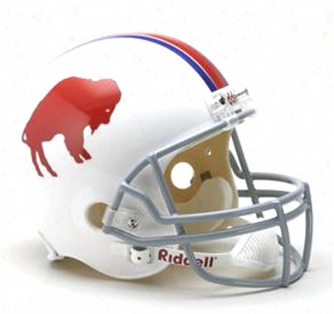 Buffalo Bills 1965-1973 Nfl Deluxe Replica Riddell Throwback Full Size Helmet