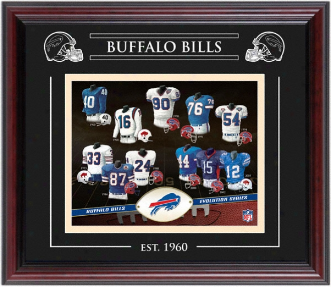 Buffalo Bills - Evolution - Framed 8x10 Collage With Laser Etching
