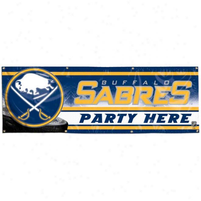 Buffalo Sabres 2x6 Vinyl Banner
