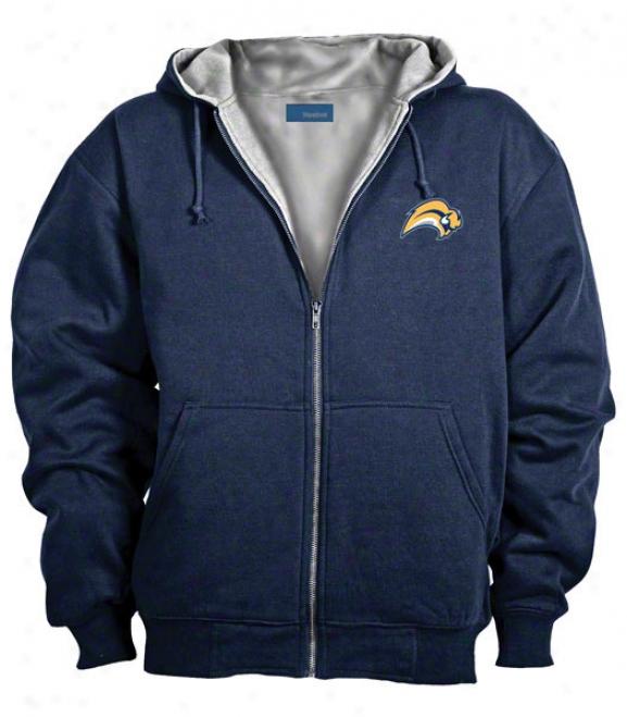 Buffalo Sabres Jacket: Blue Reebok Hooded Craftsman Jacket