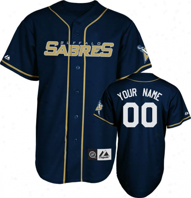 Buffalo Sabres Jersey: Navy Customizable Nhl Replica Baseball Jersey