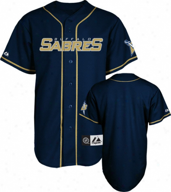 Buffalo Sabres Jersey: Navy Nhl Replica Baseball Jrrsey
