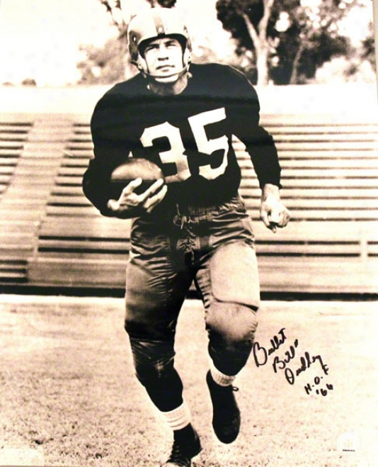 Bullet Bill Dudley Pittsburgh Steelers Autographed 16x20 Photo Inscribed Hof 66