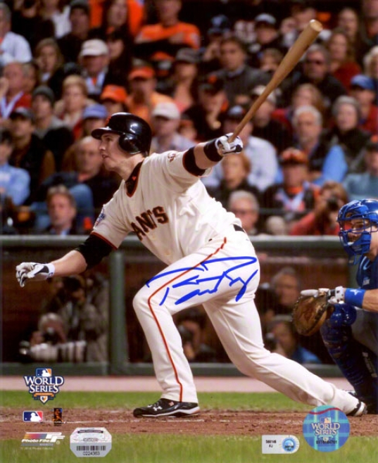 Buster Posey Autographed Photograph  Particulars: San Francisco Giants, 2010 Earth Series, 8x10