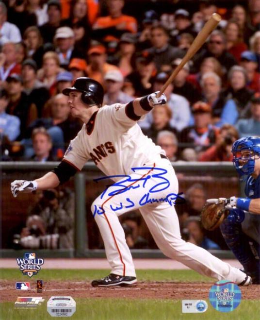 Buster Posey Autographed Photograph  Details: San Francisco Giants, 10 Ws Champs Inscription, 8x10