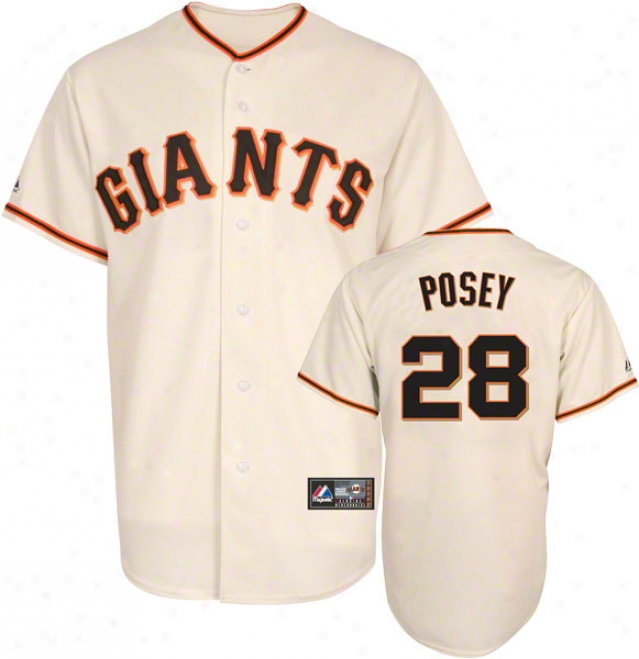 Buster Posey Jersey: Adult Home Ivory Replica #28 San Francisco Gisnts Jersey