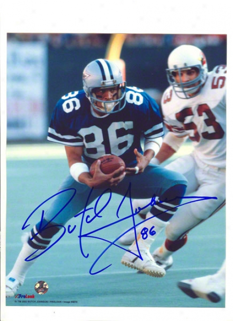 Butch Johnson Autographed Dallas Cowboys 8x10 Photo