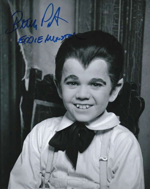Butch Patrick - The Munsters - Autographed 8x10 Photograph Attending Eddie Muster Inscription