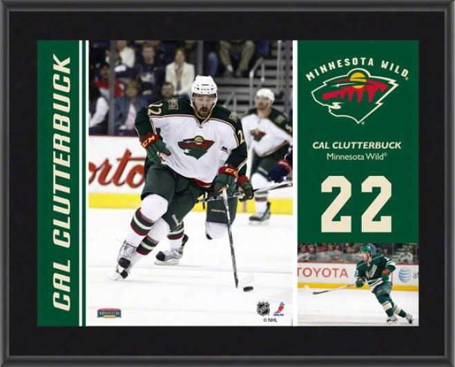 Cal Clutterbuck Plaque  Details: Minnesota Wild, Subliamted, 10x13, Nhl Plaque