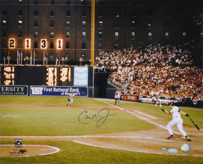 Cal Ripken Jr. Baltimore Orioles - 2131 - Autographed 16x20 Photograph