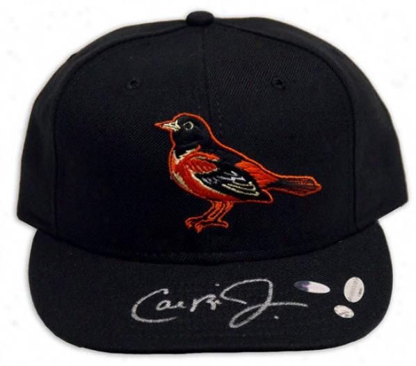 Cal Ripken Jr. Baltimore Orioles Autographed New Era Baseball Cardinal's office