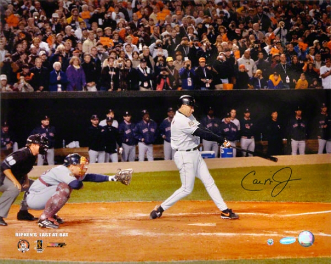 Cal Ripken Jr. Baltimore Orioles - Last At Bat - Autographed 16x20 Photograph