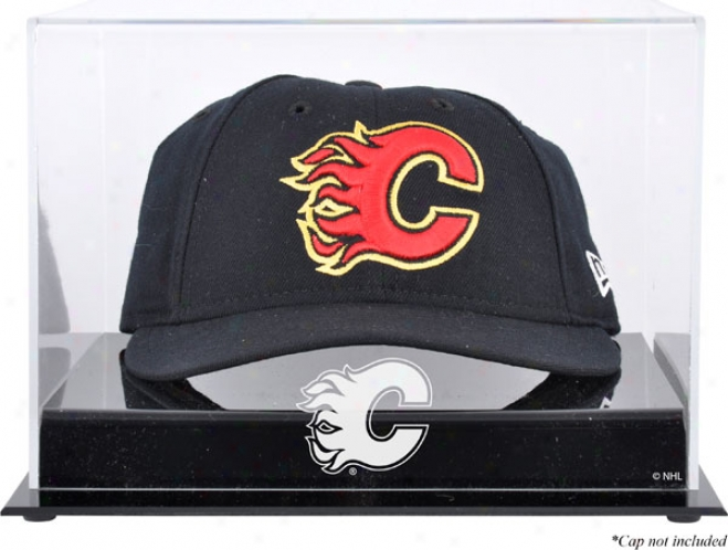 Calgary Flames Acrylic Cap Logo Display Case