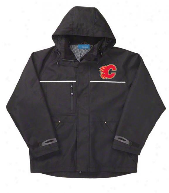 Calgary Flames Jacket: Black Reebok Yukon Jacket