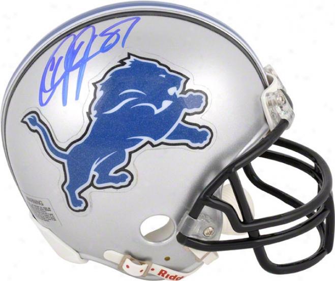 Calvin Johnson Autographed Mini Helmet  Details: Detroit Lions