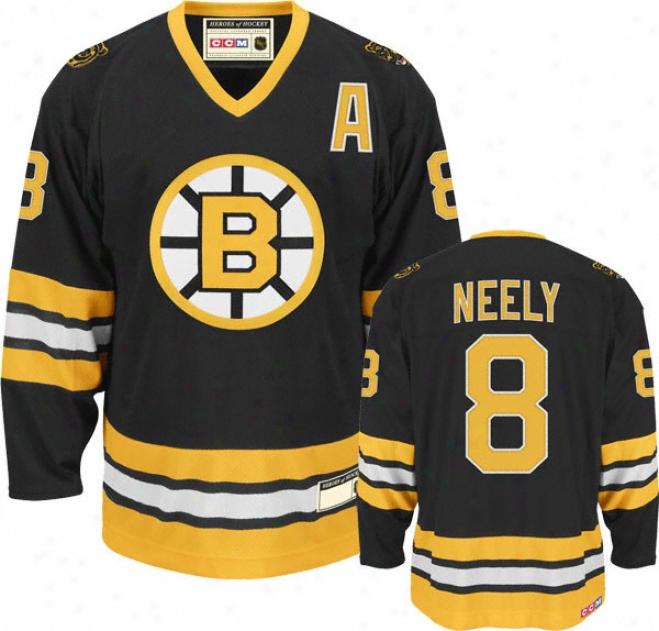 Cam Neely Black Reebok Nhl 1990 Heroes Of Hockey Boston Bruins Jetsey