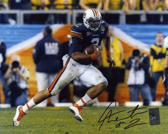Cam Newton Auburn Tigers 8x10 Running Photo