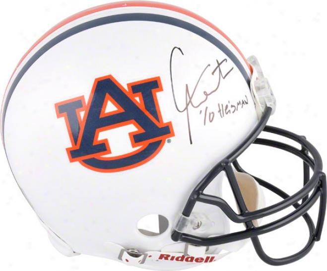 Cam Newton Autographed Helm  Details: Auburn Tigers, Inscription &quotheisman 10&quot