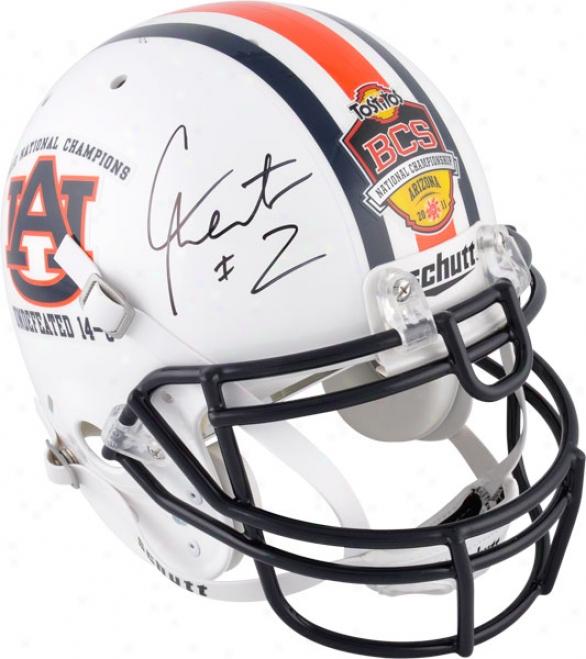 Cam Newton Autographed Helmet  Details: Auburn Tigers, National Champs Logo